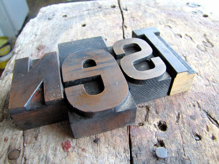 Nest Extra Large Wood Type Letters