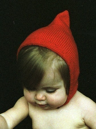 Newborn - Red Pixie Cap