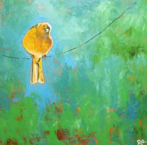 Bird 59 20x20 inch original oil painting by Roz