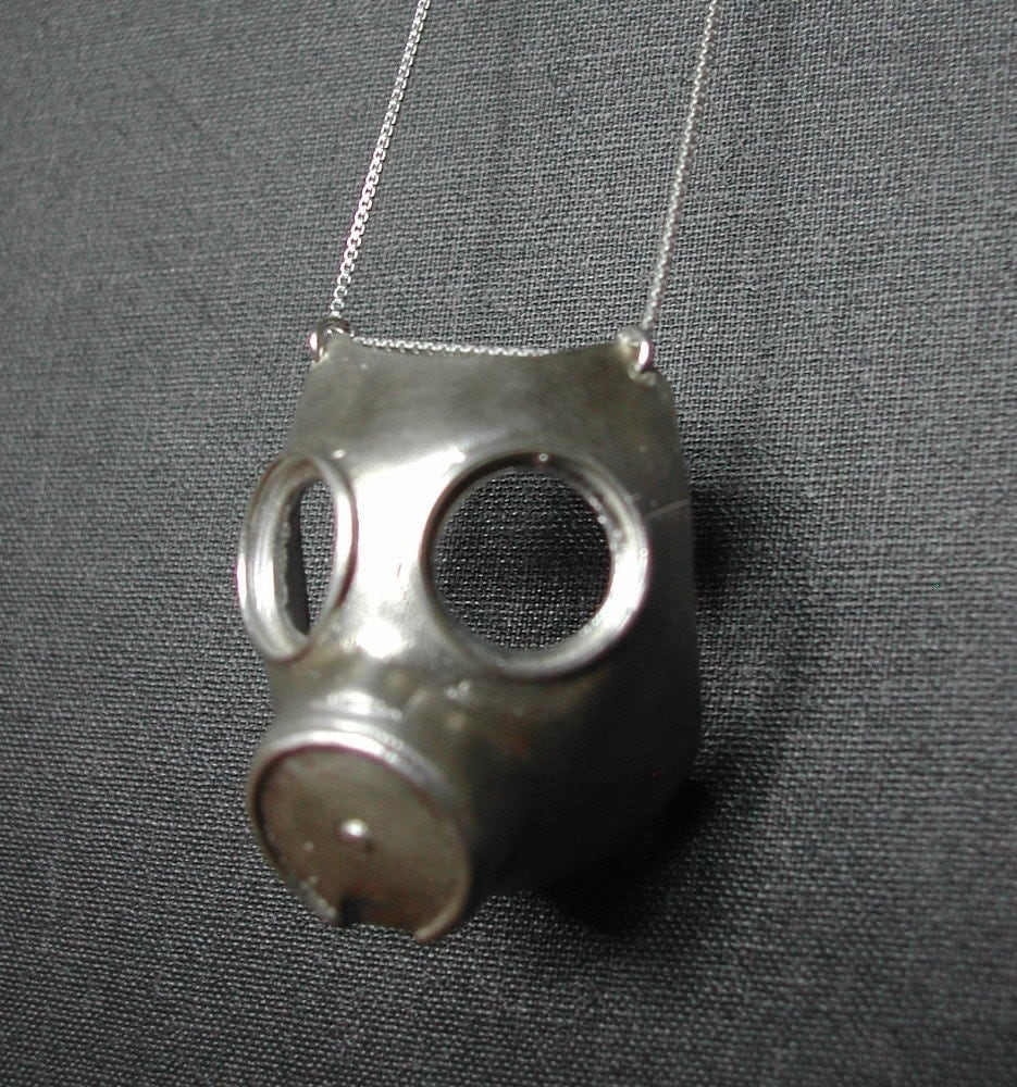 GASMASK solid sterling silver necklace