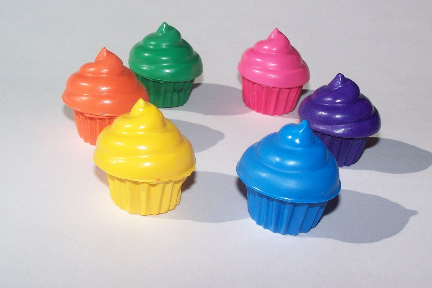 Half a Dozen Creamy Cupcake Crayons-- Packaged and Ready for Gift Giving