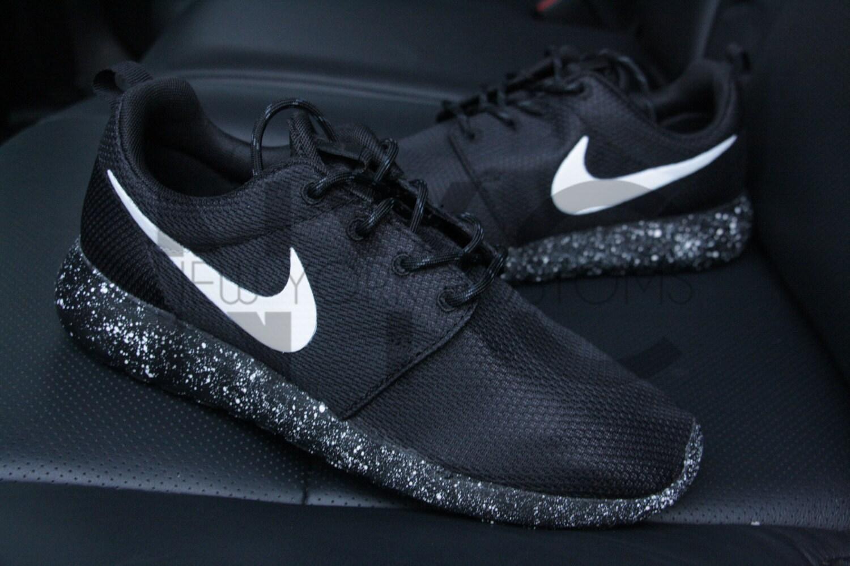 super popular 01144 f8107 new Oreo Nike Roshe One Run Black White Splatter Speckle by NYCustoms