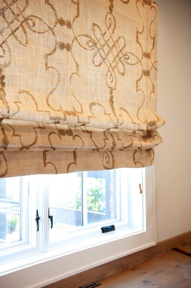 items similar to custom roman shade window treatment in osborne and little fabric on etsy. Black Bedroom Furniture Sets. Home Design Ideas