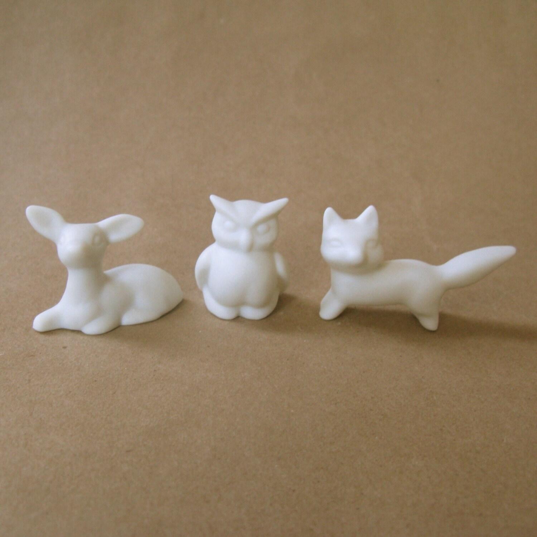 3 Miniature Forest Animals