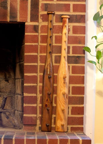 baseball bat coat and hat rack by specialtywooddesigns on etsy