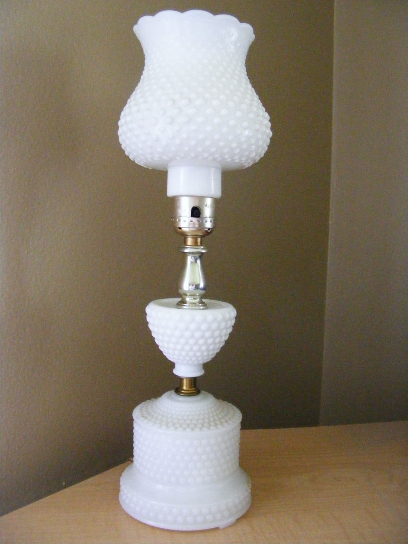 Fenton Milk Glass Lamp by themammabear on Etsy