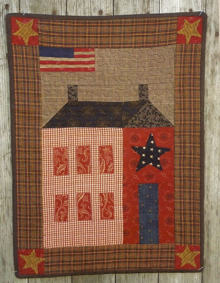 Primitive Folk Art Quilt Pattern: MY SISTER S by PrimFolkArtShop