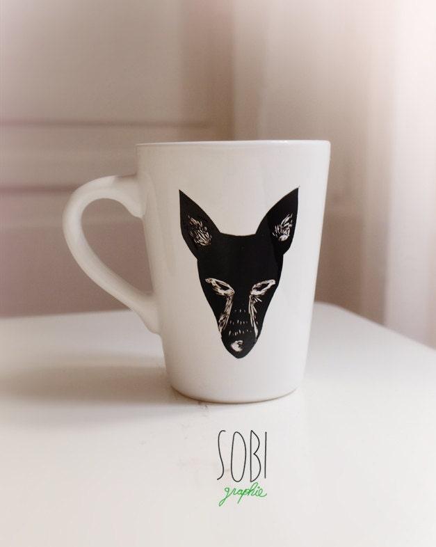 Tasse renard / fox céramique modèle unique