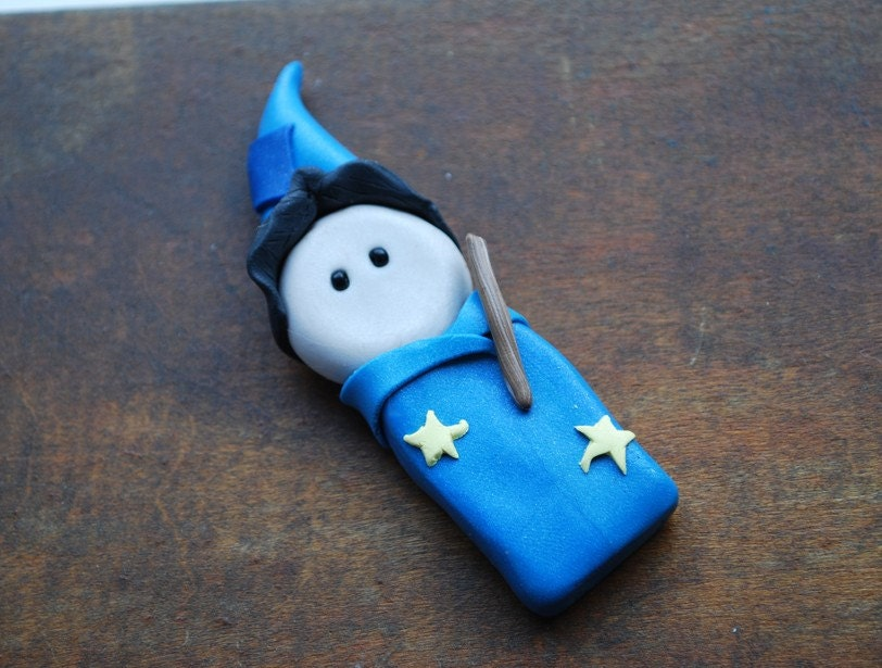 Little Wizard Magnet/Ornament - Totally Customizable Clay Creations