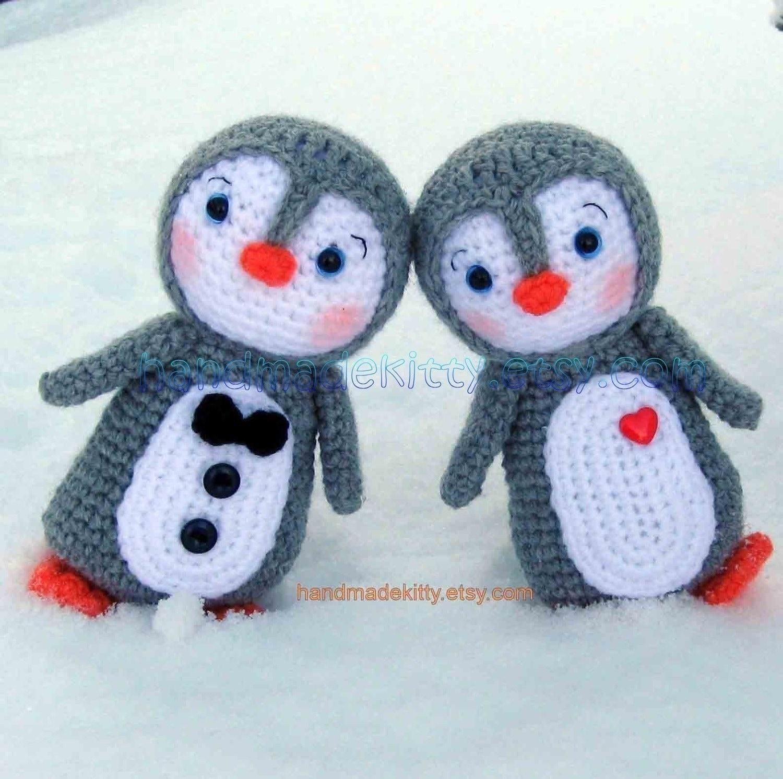 Penguin Couple Amigurumi PDF Crochet Pattern