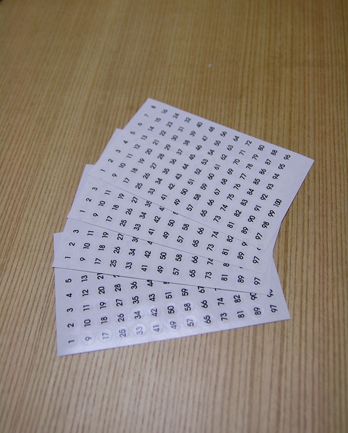 Numbering Sticker Dots - medium (4sheet)