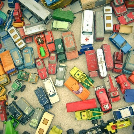 "Nursery Art Toy Car Photo Fine Art Photography ""Traffic Jam"" 8x8 Print"