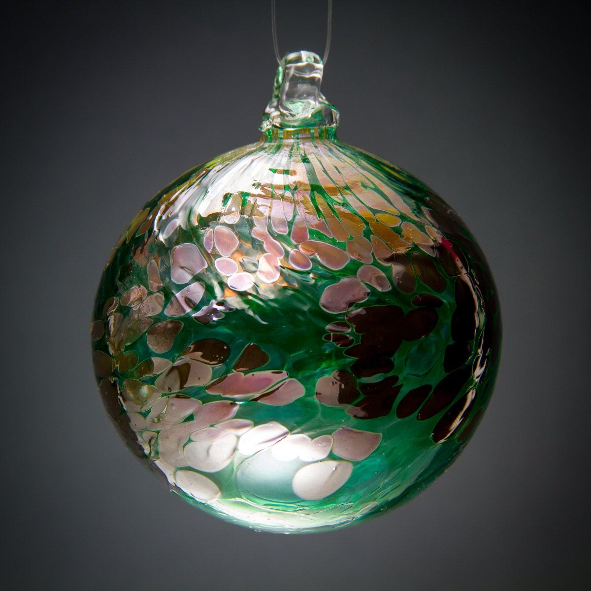 Items similar to handmade blown glass christmas ornament