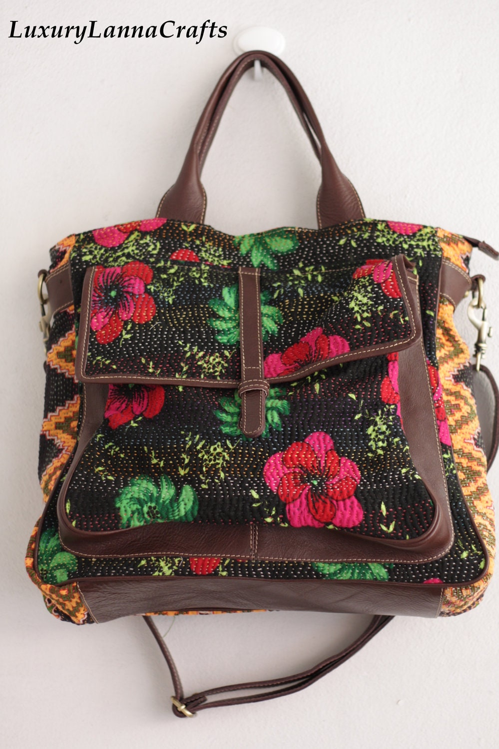 Luxury Lanna vintage Indian Kantha Weekend bag ethnic flowers summer IWB2012-05