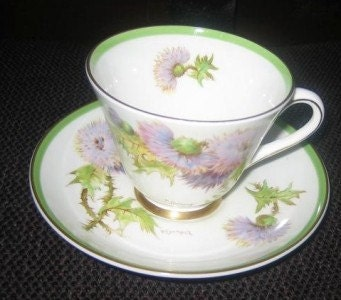 Royal Doulton Scottish Glamis Thistle Cup and & Saucer