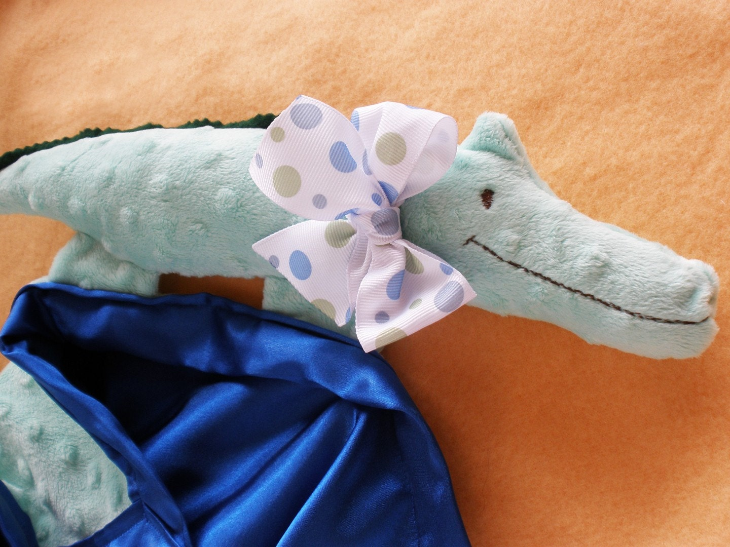 Security Blanket Lovey Silky Alligator - Pick your Color - New