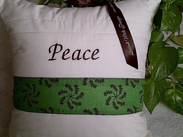 Inspirational Pillow - Peace Decorative Throw Pillow