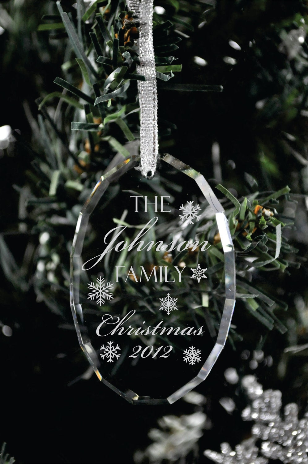 Personalized christmas ornament laser engraved by for Custom engraved christmas ornaments