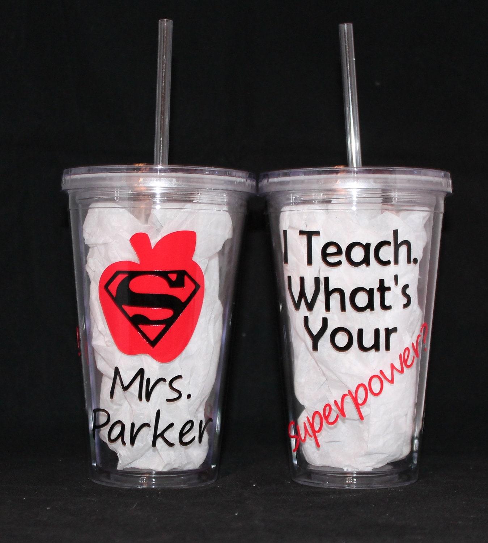 Teacher Appreciation Personalized Tumbler 16oz