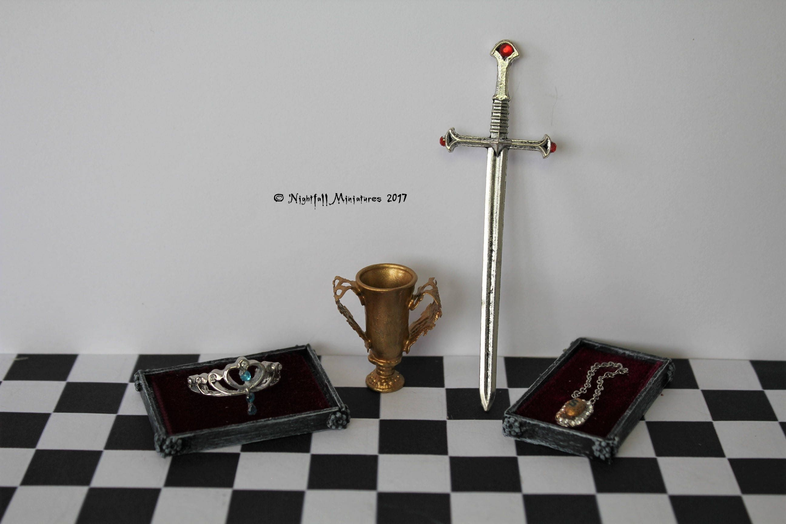Dollhouse Miniature Magic Harry Potter Inspired Founder Relics in 112 scale
