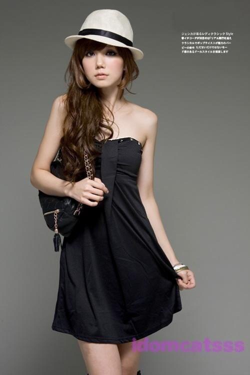لباس سیاه بی تسمه 43
