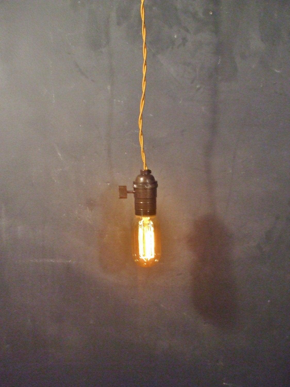 vintage minimalist industrial bare bulb light sockets by. Black Bedroom Furniture Sets. Home Design Ideas