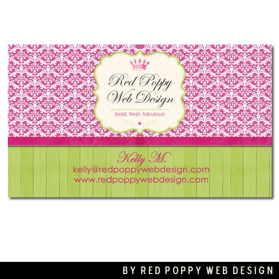 Premade Business Card Design Digital Business by