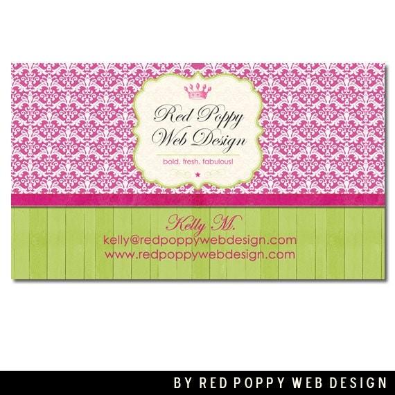 Premade Business Card Design Digital Business By Redpoppywebdesign