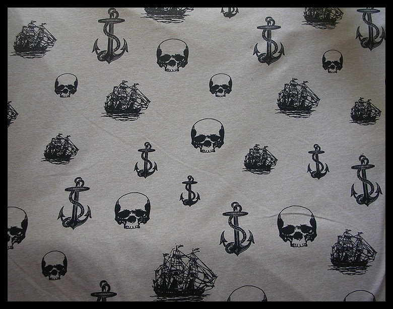 Lost At Sea Long Arm Warmers with Graphic Skulls by ZenAndCoffee