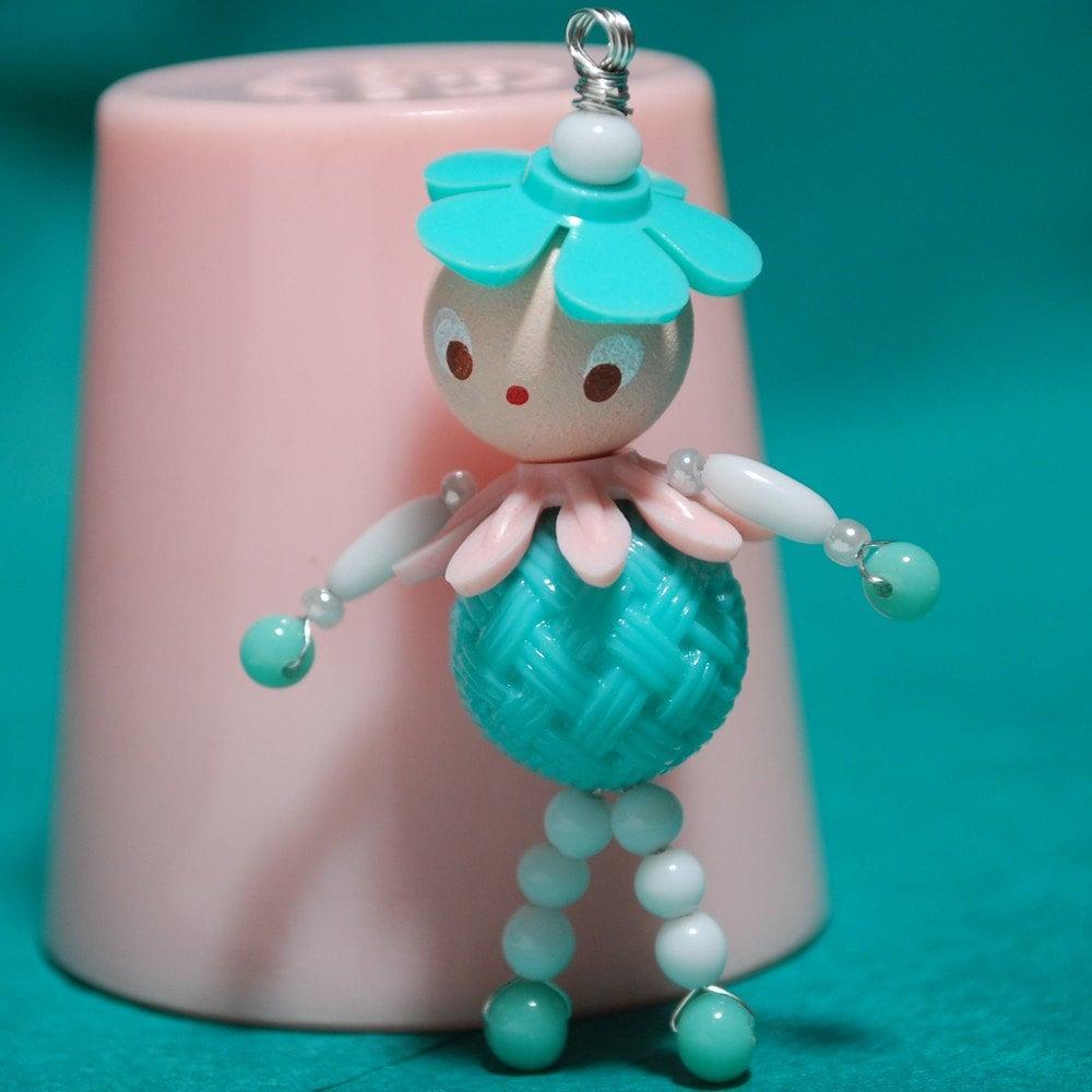 handmade bead doll charm