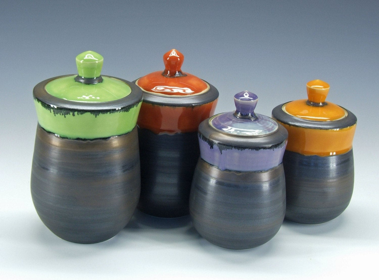 Multi colored canister sets