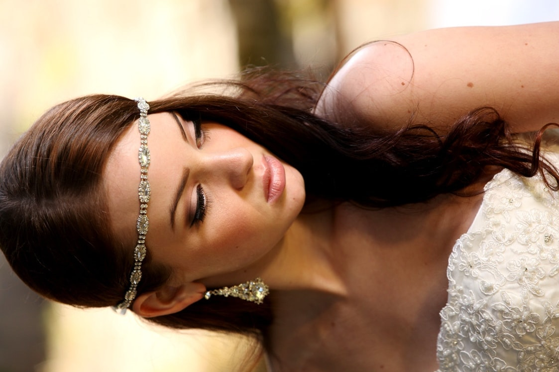 Wedding Hair With Rhinestone Headband : Rhinestone headband grecian headpiece wedding hair by