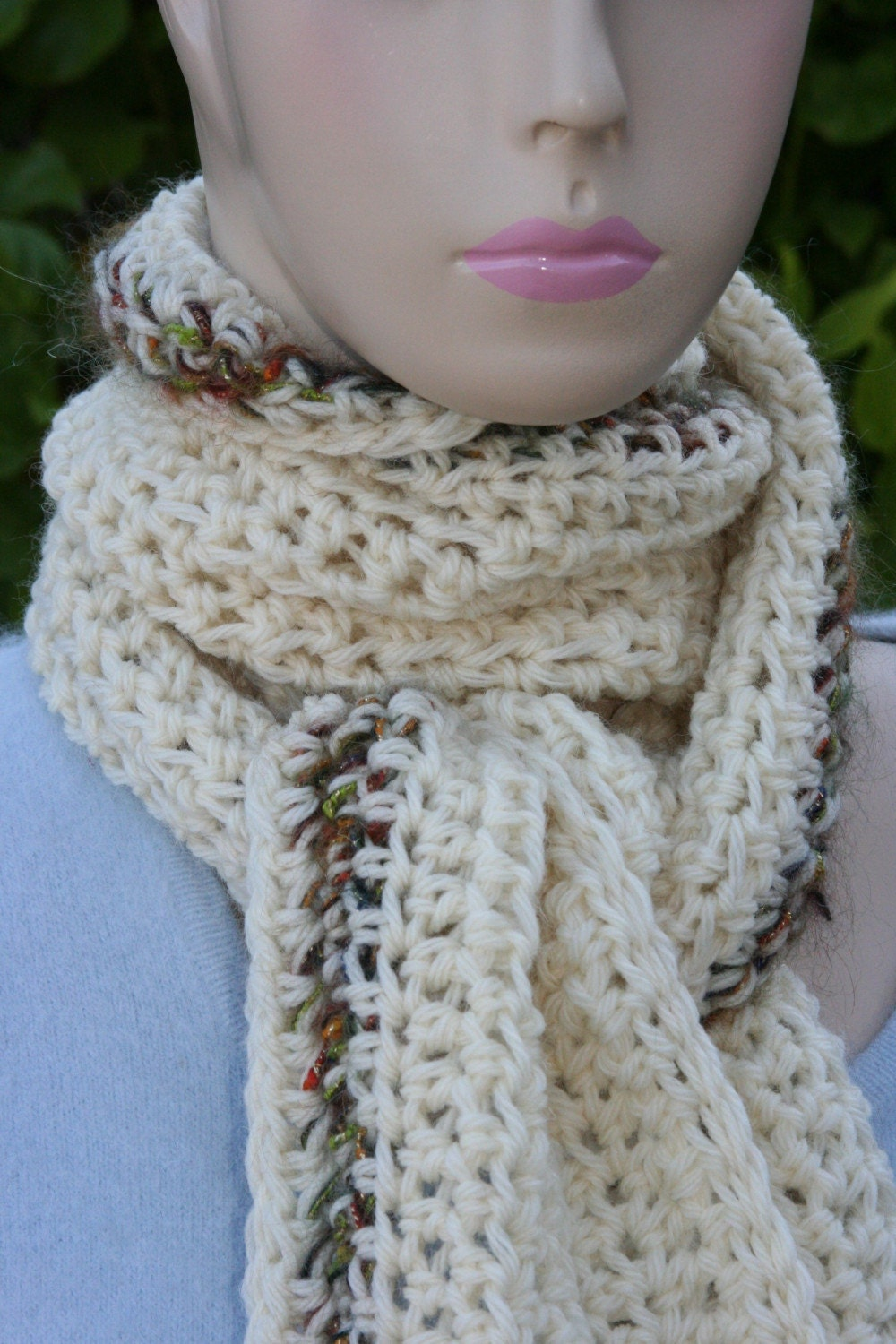 Wool Scarf with Mohair Accent  Beautiful and by OlliesBoutique from etsy.com