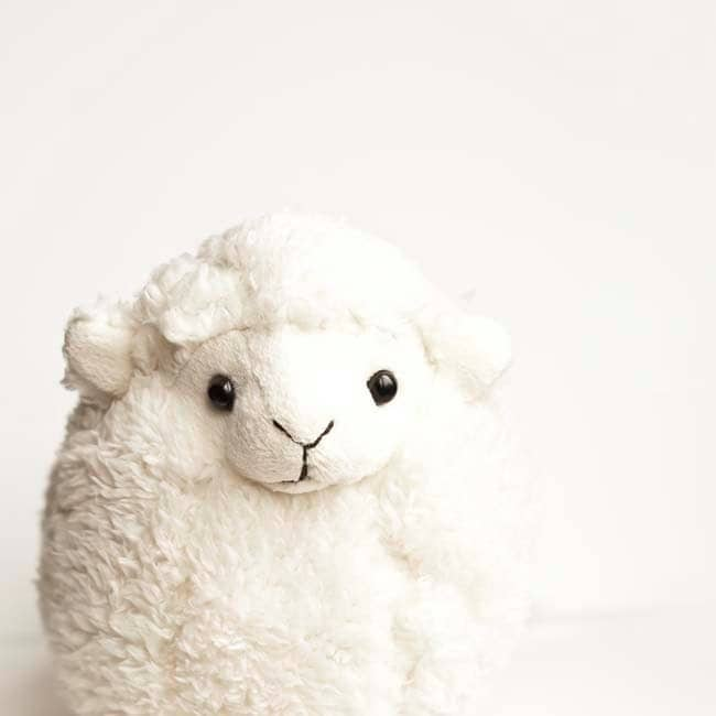 Children decor, Easter, minimalist, white, beige, toy baby lamb, nursery decor - fine art photography 5x5 - Raceytay
