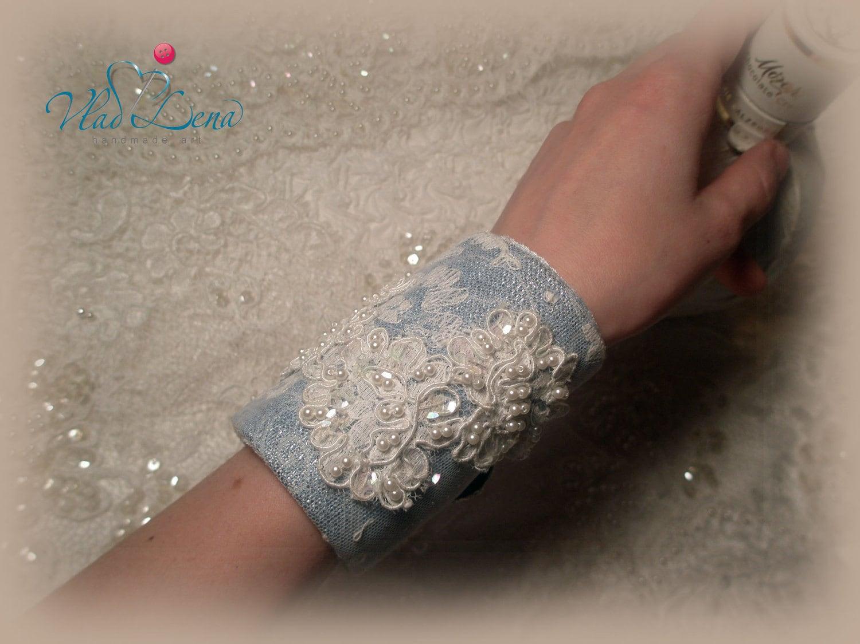 МОЦАРТ (5) Винтаж браслет манжеты Ткань