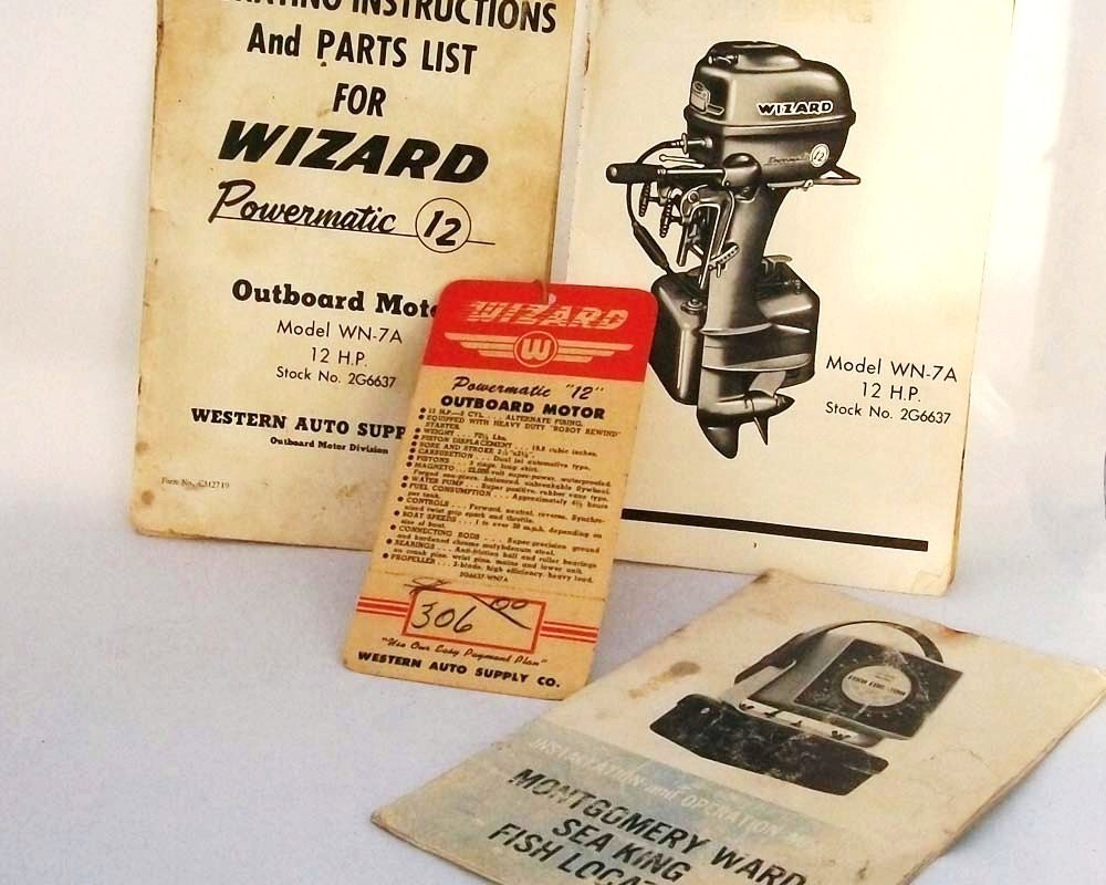 Vintage Outboard Motor Manuals Wizard Motors By