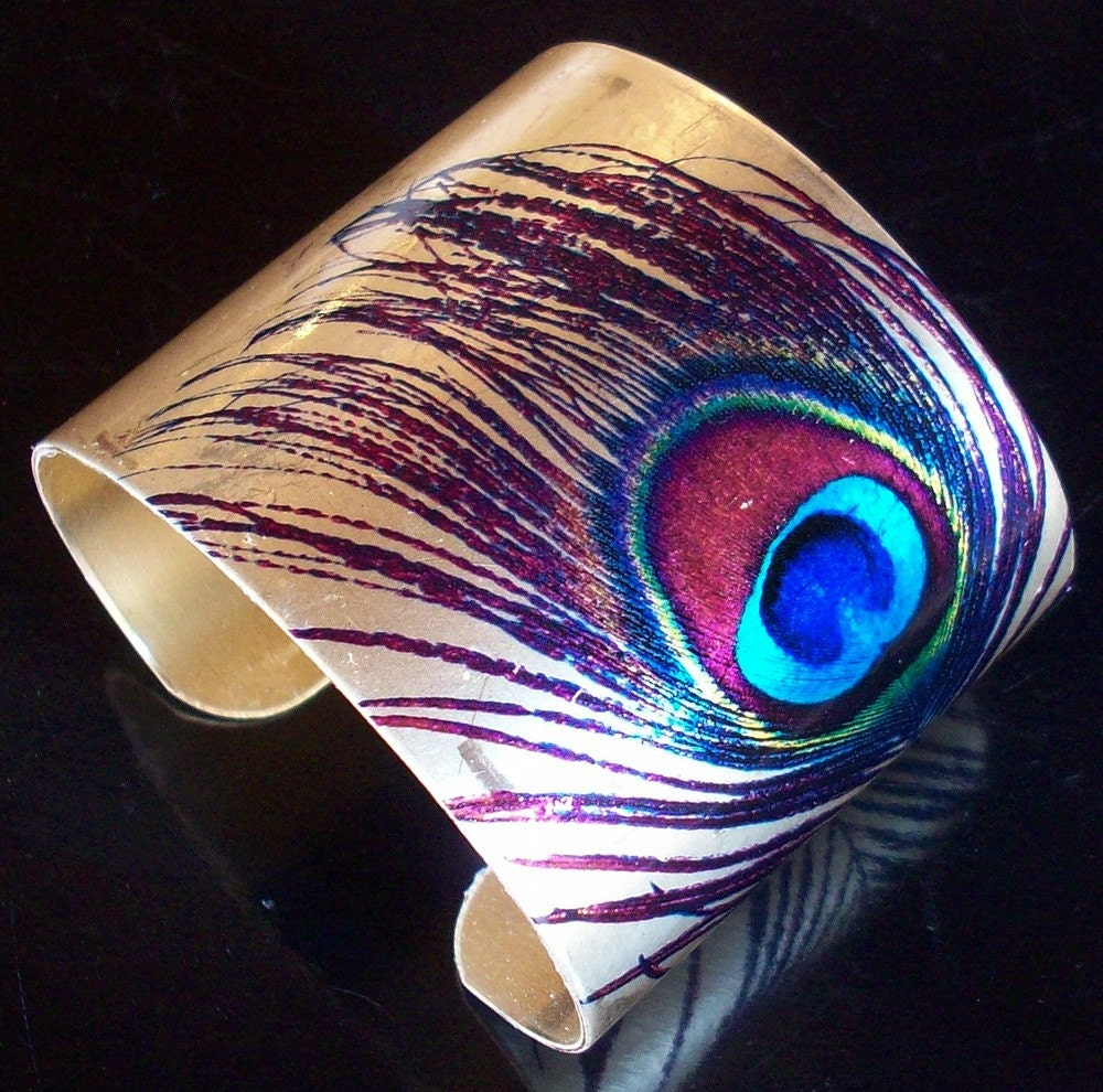 Single Feather Cuff :  fashion jewelry cuff jewellery