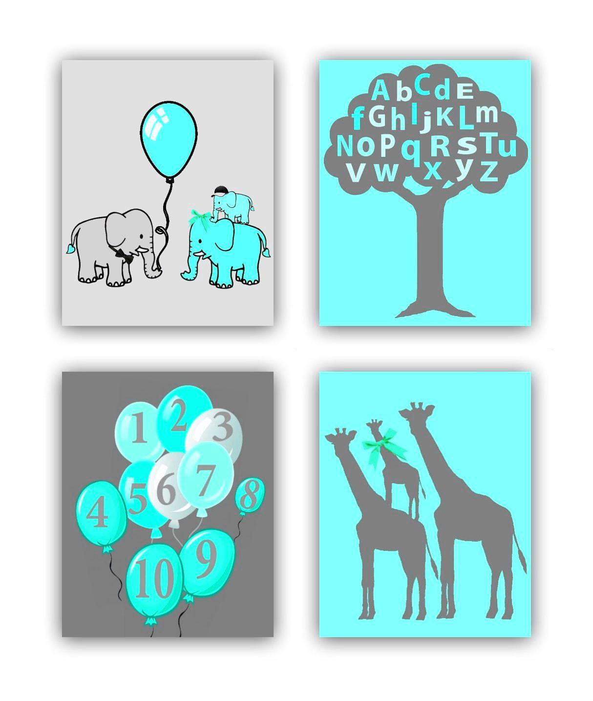 Image Result For Elephant Nursery Wall Decora