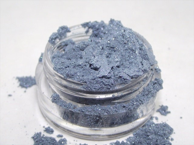 Mineral Eye Shadow Denim shimmery mica powder shadow 3 gram sifter - plumvalleynotions
