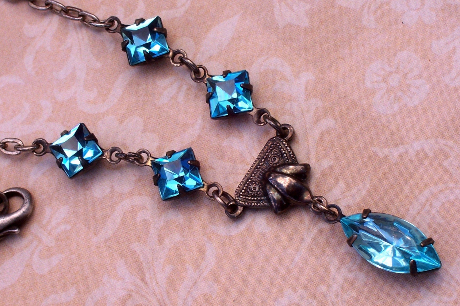 Aqua Blue Necklace  Aquamarine by malves1009 on Etsy from etsy.com