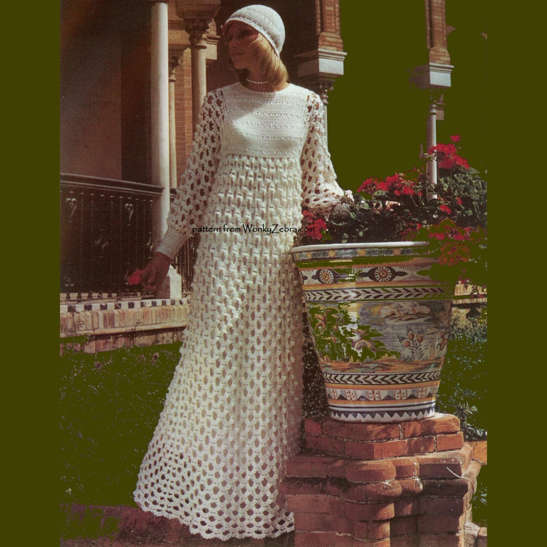 Vintage Crochet Pattern 244 PDF Arch Lace Wedding Dress from WonkyZebra