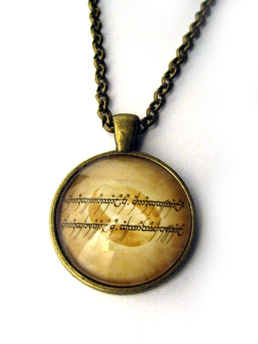 items similar to the one ring necklace elvish necklace