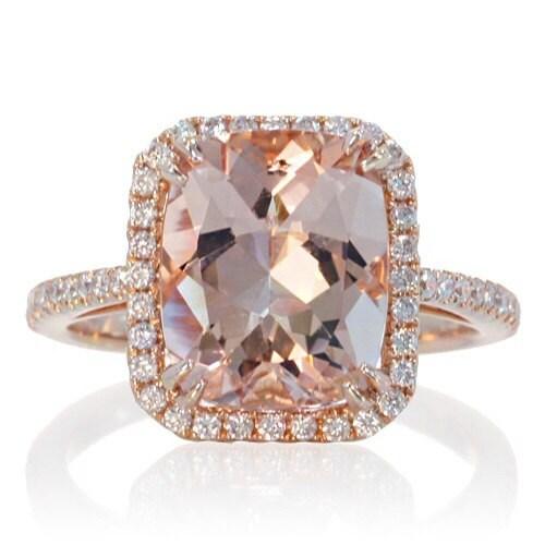 Cushion Cut Diamond Rose Gold Cushion Cut Diamond Rings