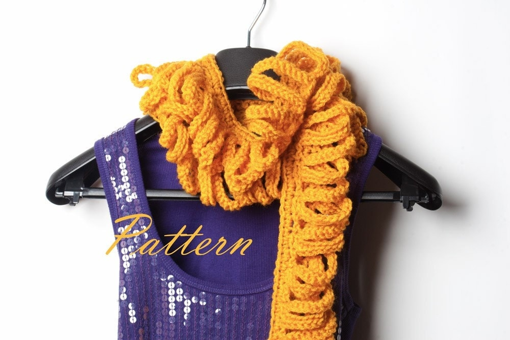 PDF Pattern Crochet Scarf Loops and Strips