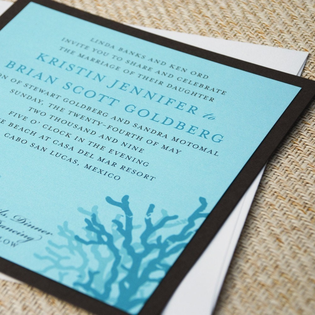 showing up in wedding decor These fabulous Invitations from BeyondDesign 39s