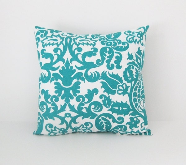 Pillow Throw Decor Etsy : Teal Pillow Covers Throw Pillows Decorative by BlossomPillowCo