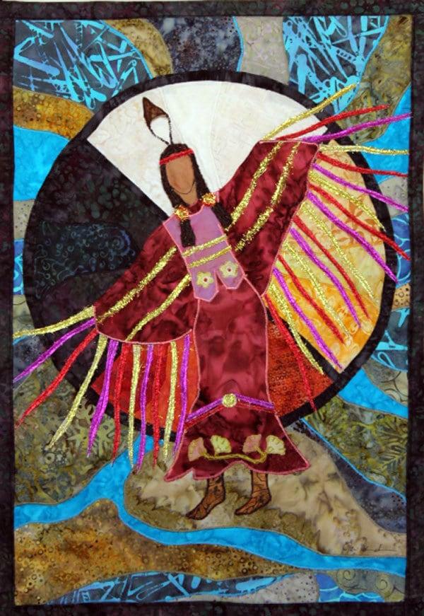 Native American Fancy Shawl Dancer art quilt by JPGstudio2536