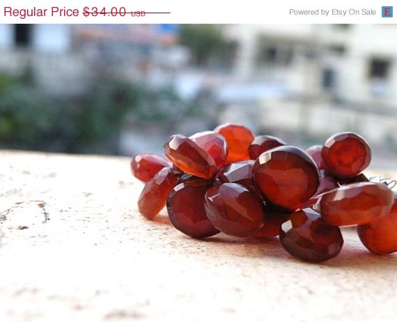 46% Off Sale Dark Rust Chalcedony Briolette Gemstone Faceted Heart Top Drilled 11mm 1/2 Strand Wholesale - somsstudiosupplies