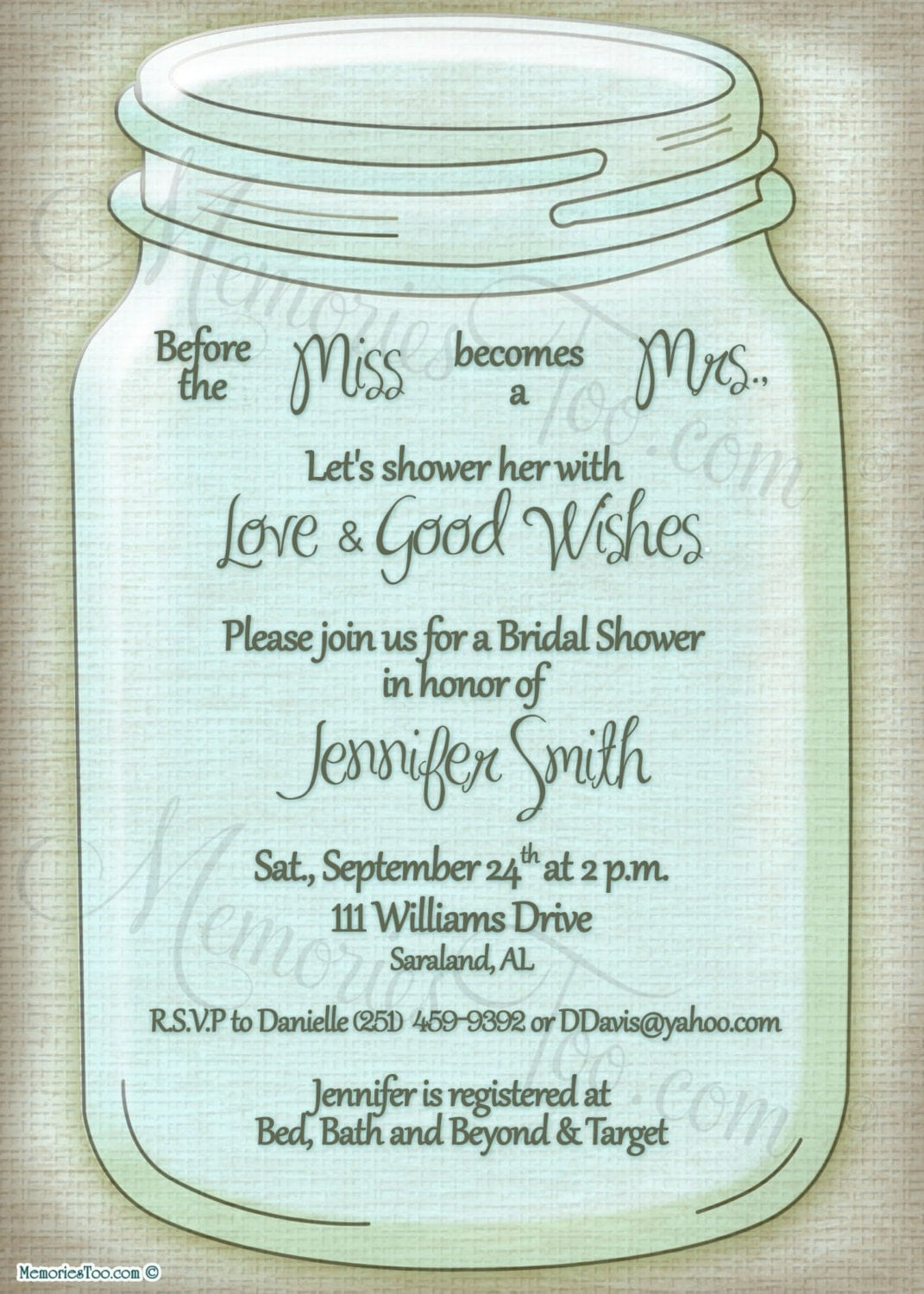 Mason Jar Wedding Invitations   Best Template Collection MIdyqe3C