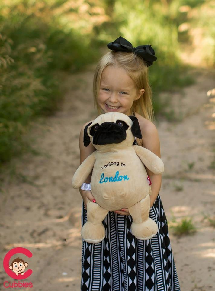 Personalized pug toy Plush pug Easter gift Birthday toy Newborn gift Embroidered name toy personalised gift